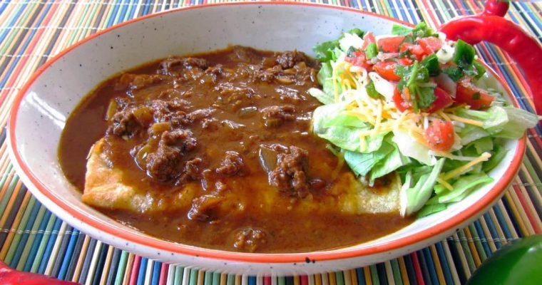 Chili Gravy with Beef Enchiladas Recipe