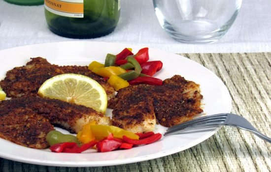 Walnut Crusted Tilapia