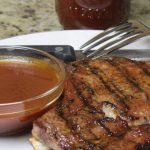 Root Beer BBQ Sauce with Grilled Pork Chops